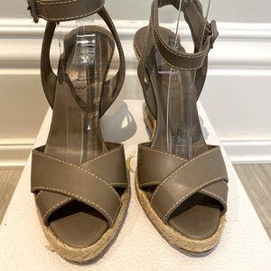Grey leather Louboutin Espadrilles